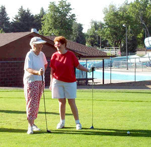 Seniors Playing Golf at Friendly Valley Santa Clarita